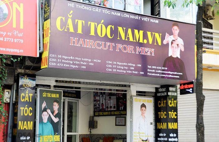 bảng hiệu tiệm cắt tóc