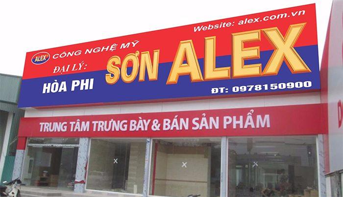 bảng hiệu cửa hàng sơn nước