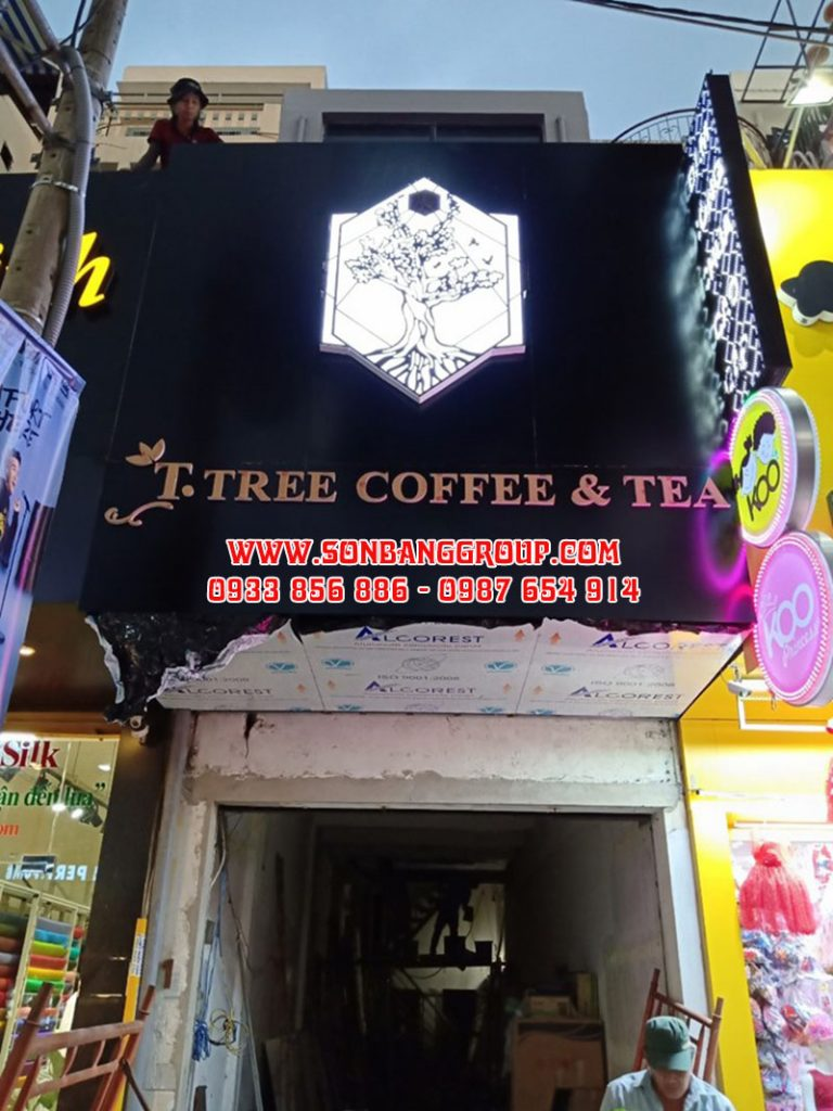 bảng hiệu quán cafe trà quận 1