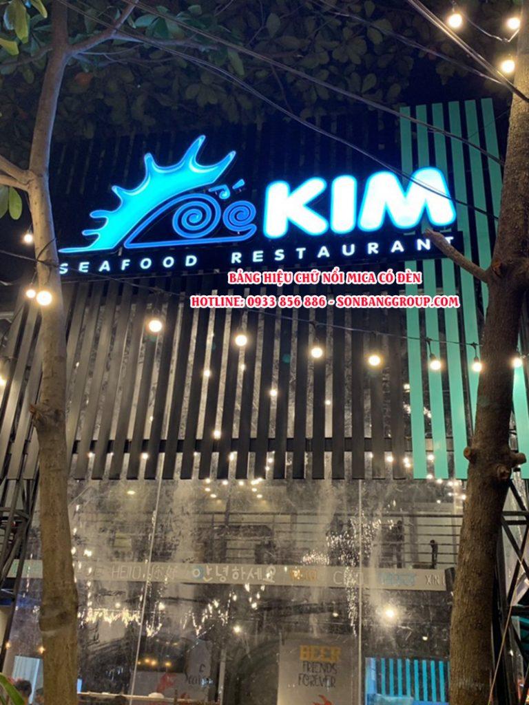 bảng hiệu nhà hàng hải sản tại tphcm