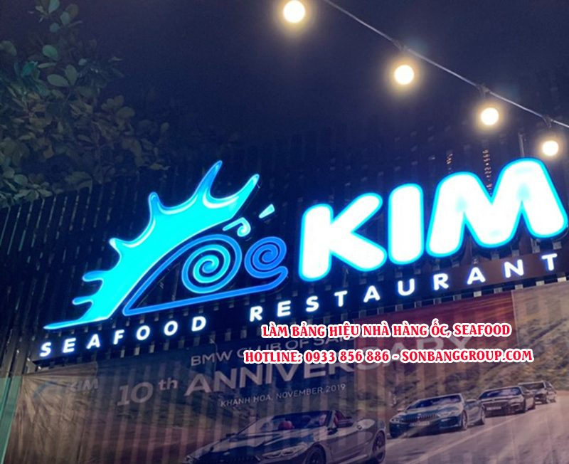bảng hiệu nhà hàng seafood tại tphcm