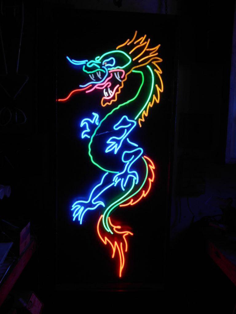 logo sologan uốn đèn neon sign