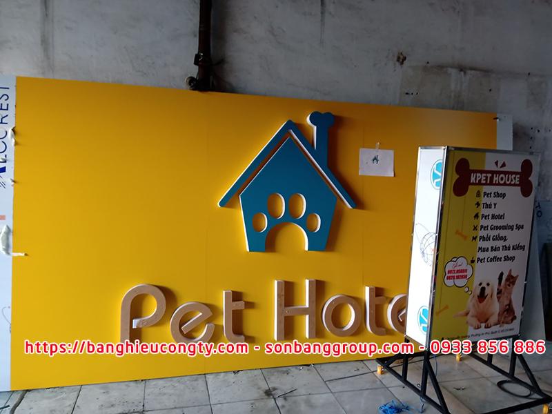 bảng hiệu pet shop